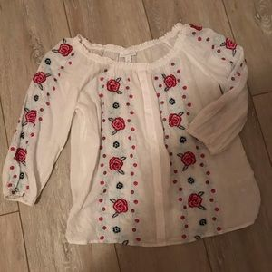 Charter Club Embroidered Blouse